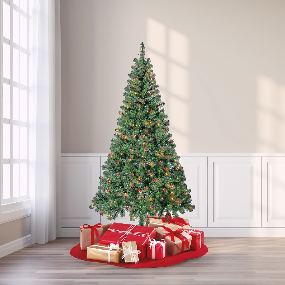 6.5' Holiday Time Pre-Lit Artificial Christmas Tree