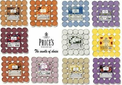 Prices Pack Of 25 Scented Tealights Quality Candles Tea Night Lights 4 Hour Burn