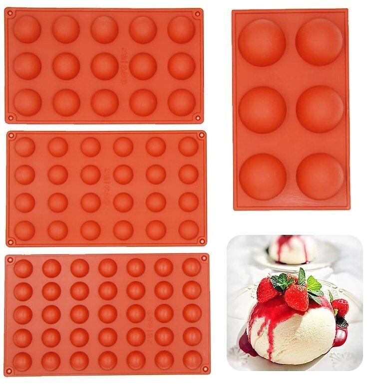 Hemissaries Shape Silicone Mold for Chocolate Ice Cube Maker Baking Molds Cookie Cake Candy Tools