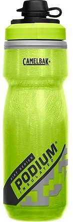 CamelBak Podium Dirt Series Chill Insulated Bike Water Bottle - Squeeze Bottle - 21oz, Lime