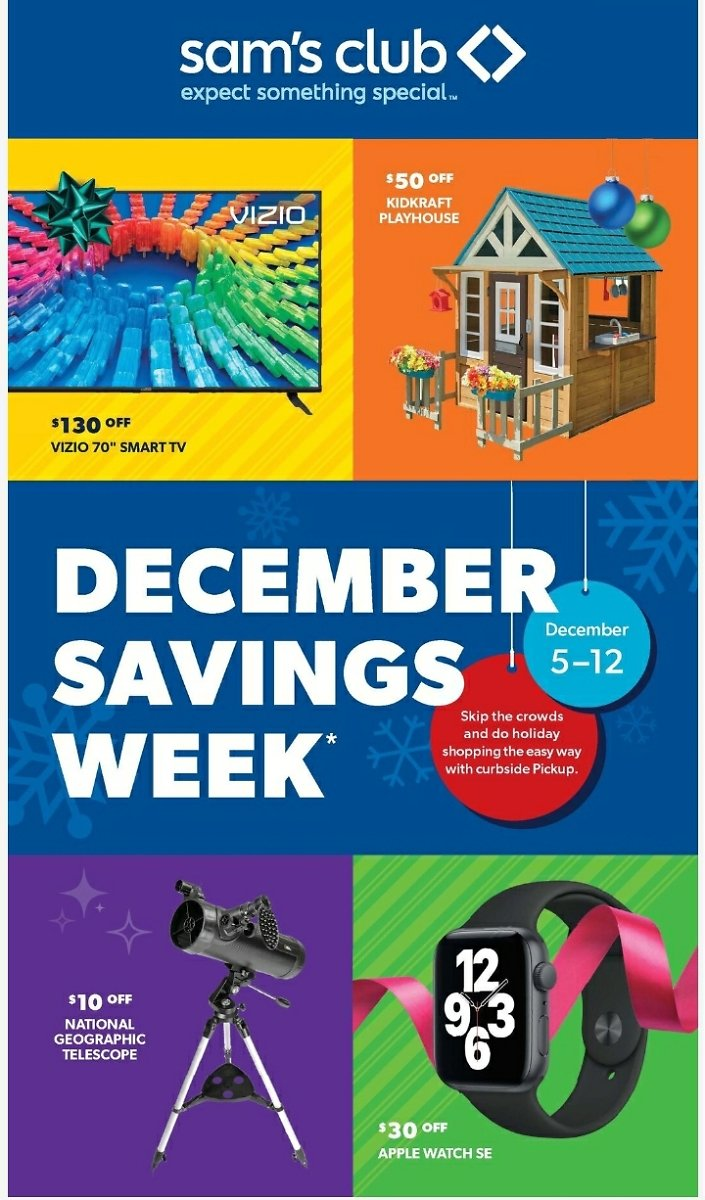 Sams Club December Savings Sale (12/05-12/12)