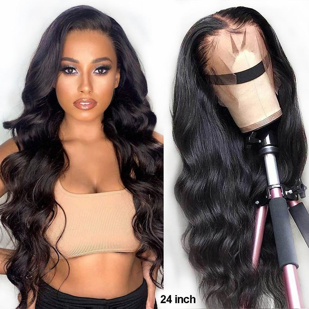 13x4 Lace Front Wigs Brazilian Body Wave Human Hair Wigs 150% Density Remy Hair Pre Plucked 4x4 Lace Closure Wig