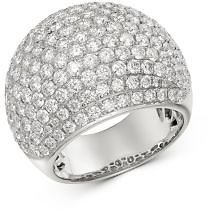 Bloomingdale's Pavé Diamond Dome Ring in 14K White Gold, 4.50 Ct. T.w. - 100% Exclusive Jewelry & Accessories - Bloomingdale's