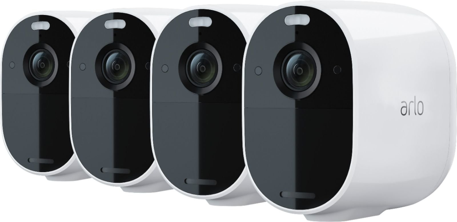 Arlo Essential Spotlight Camera Indoor/Outdoor 1080p HD Wire-Free Security with Color Night Vision (4-pack) White VMC2430-100NAS