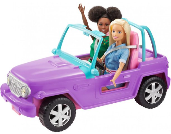 Barbie Estate Off-Road Vehicle With Rolling Wheels