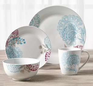 Emma 16-Pc. Dinnerware Set, Service for 4