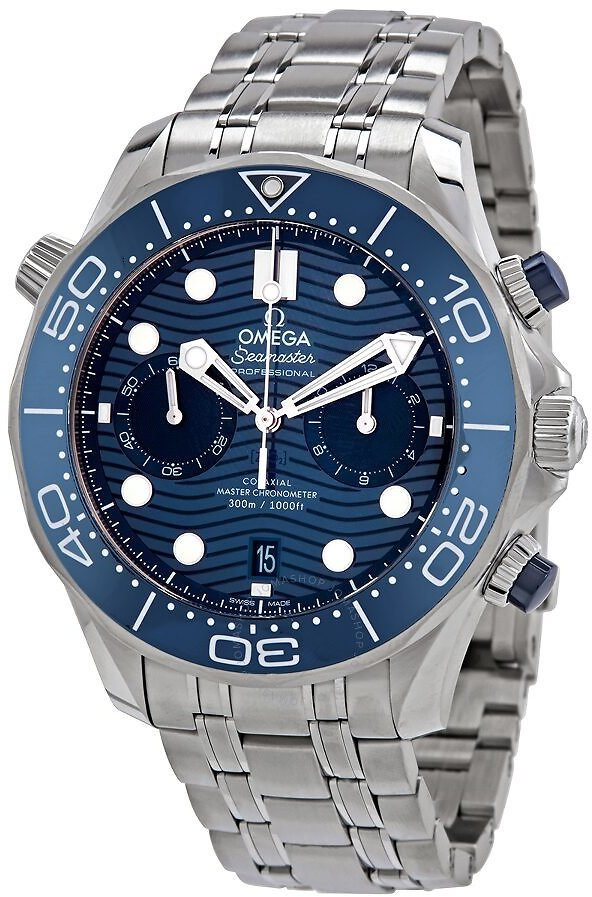 Omega Seamaster Diver Chronograph Automatic Chronometer Blue Dial Men's Watch 210.30.44.51.03.001
