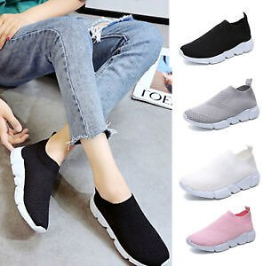 Women's Mesh Athletic Sneakers Casual Running Flats Shoes Breathable Sports Shoe
