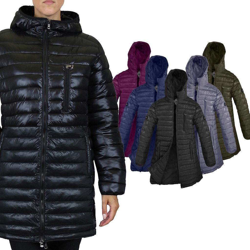 Women's Puffer Bubble Jacket With Non-Detachable Hood