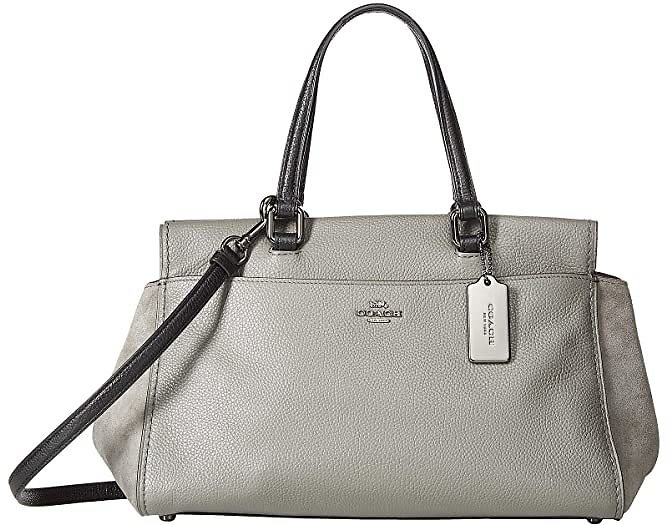 49% Off for Color Block Mixed Leather Fulton Satchel