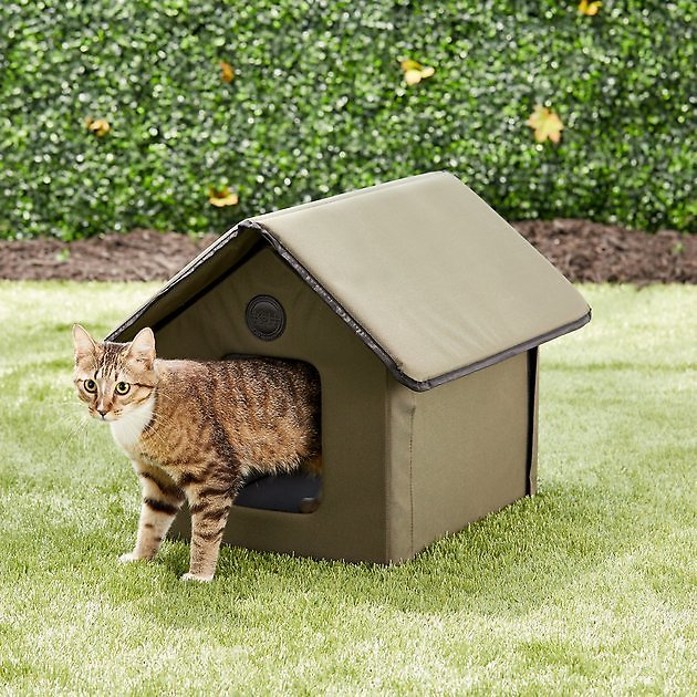 K&H PET PRODUCTS Outdoor Unheated Kitty House, Olive - Chewy.com