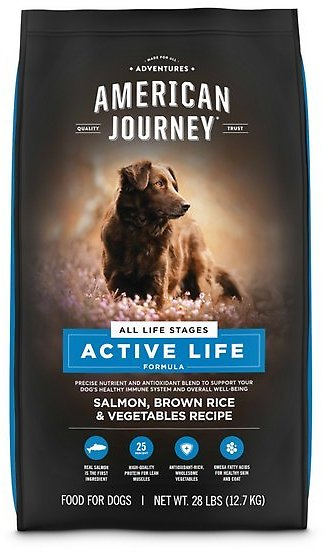 BOGO AMERICAN JOURNEY Active Life Formula Salmon, Brown Rice & Vegetables Recipe Dry Dog Food, 28-lb Bag - Chewy.com