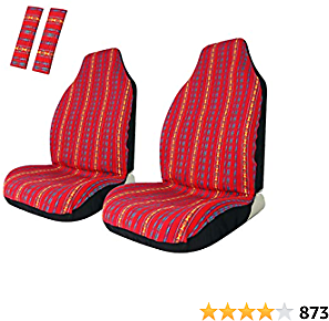 Front Seat Covers Red Colorful Saddle Blanket Seat Cover