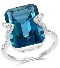 Bloomingdale's London Blue Topaz & Diamond Ring in 14K White Gold - 100% Exclusive Jewelry & Accessories - Bloomingdale's