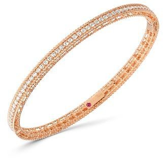 Roberto Coin 18K Rose Gold Symphony Princess Diamond Oval Bangle Bracelet Jewelry & Accessories - Bloomingdale's