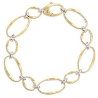 Marco Bicego 18K Yellow Gold Onde Diamond Station Bracelet Jewelry & Accessories - Bloomingdale's