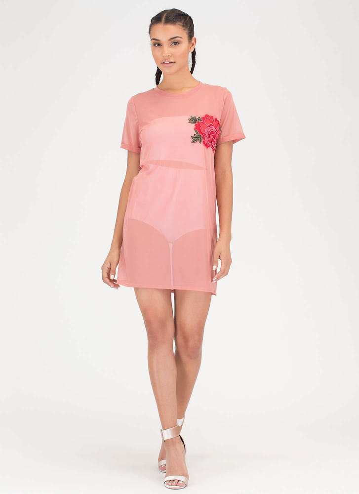 By Any Other Name Sheer Tee Dress