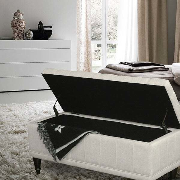 Adeco Tufted Storage Ottoman Bench - 3 Colors