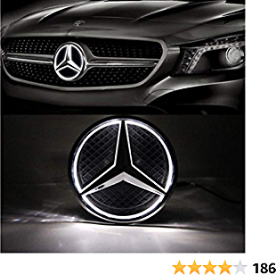LED Emblem for Mercedes Benz 2013-2015,Car Front Grille Badge, Illuminated Logo Hood Star DRL for Mercedes Benz A B C E R GLK ML GL CLA CLS Class - White Light - Drive Brighter As Christmas Gift