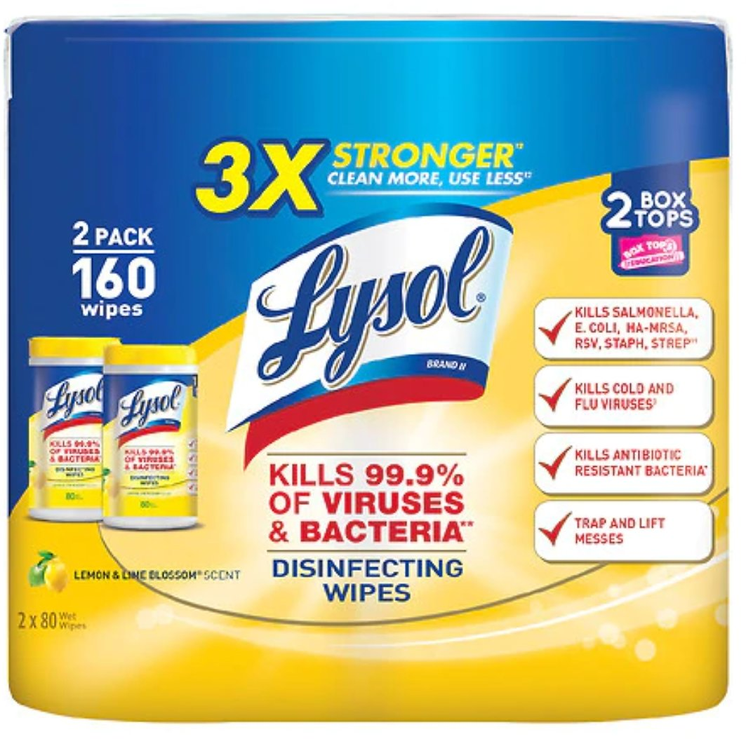 2-Pack Lysol Disinfecting Wipes
