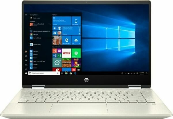 HP Pavilion X360 2-in-1 14 Inch (256GB,Intel Core I5 10thGen., 4.2GHz, 8GB) Laptop - Warm Gold - 14MDH1003DX for Sale Online
