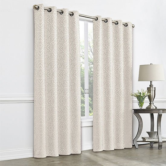 Plaza Tapestry Blackout Grommet-Top Single Curtain Panel