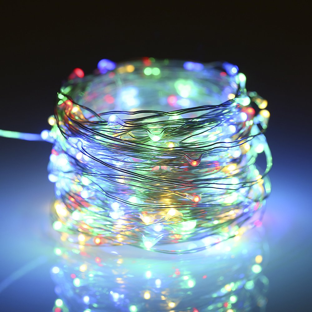 12W 20M 200 LEDs Solar Powered Energy Copper Wire Fairy Christmas String Light Lawn Lamp with 8 Different Lighting Modes Effects