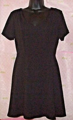 $58 Women ONE CLOTHING Dress SOFT BLACK LINED SMALL ZIP BACK