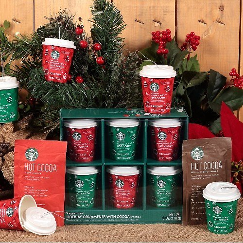 6-Ct Starbucks Hot Cocoa Holiday Ornaments (In-Store)