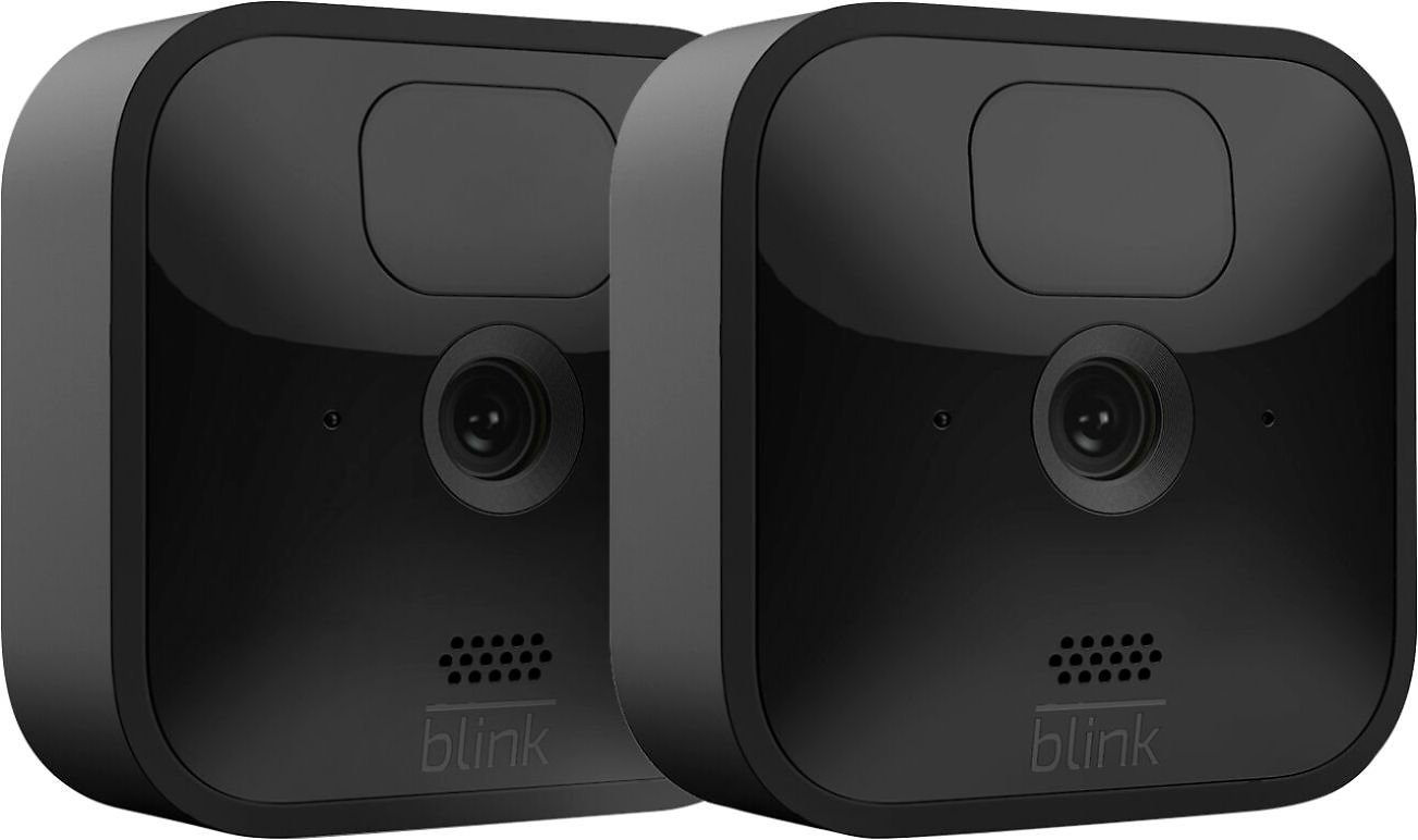 Blink Outdoor 2 Cam Kit– Wireless, Weather-resistant HD Security Camera with 2-year Battery Life and Motion Detection B086DL32R3