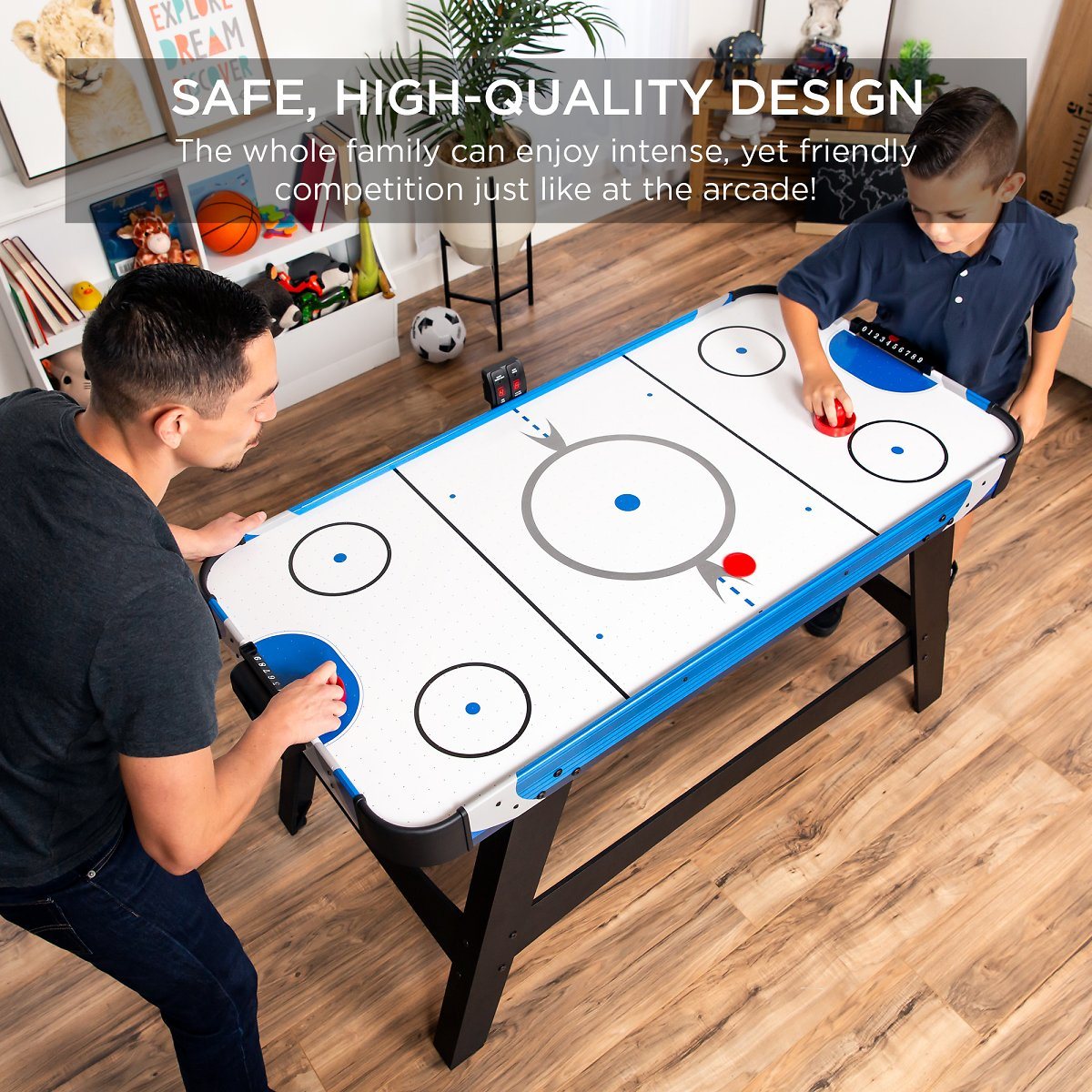 Best Choice Products 58in Mid-Size Air Hockey Table