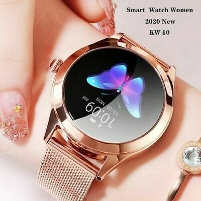 KW10 Waterproof Smart Watch Heart Rate Bracelet Women Xmas Gifts for IOS Android