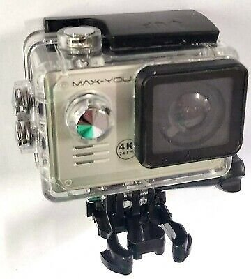 Max-You 4K Action Sports Camera Underwater 100' Waterproof 16GB, Remote Control