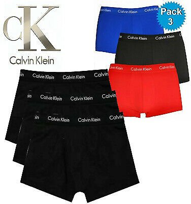New Mens Calvin Klein Boxer Shorts Underwear Trunks Low Rise 3 in a Pack CK