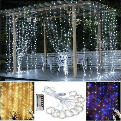 100/200/300 LED Curtain Fairy Hanging String Lights Christmas Party Home Decor H