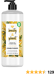 Love Beauty And Planet Hope and Hair Repair Conditioner for Dry Hair and Split Ends Coconut Oil & Ylang Ylang Vegan Damaged Hair Treatment 32.3 Oz