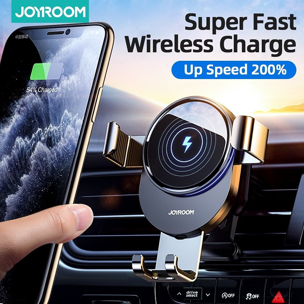 15W Qi Car Phone Holder Wireless Charger Car Mount Intelligent Infrared for Air Vent Mount Car Charger Wireless For IPhone12 Pro