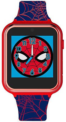 Accutime Kid's Spiderman Black Silicone Strap Smart Watch 46x41mm & Reviews - Watches - Jewelry & Watches