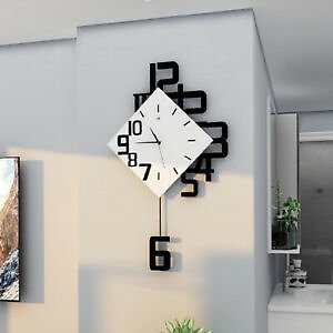 Swing Wall Clock European Style Living Room Wall Decor Fashion Pendulum Clocks