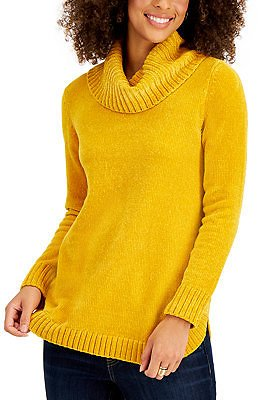 Style & Co Chenille Cowlneck Tunic, Created for Macy's & Reviews - Sweaters - Women