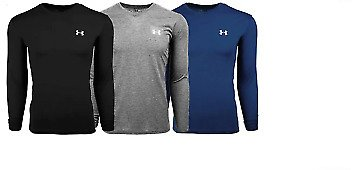New With Tags Men's Under Armour Gym Muscle V Neck Long Sleeve Tee Shirt Top