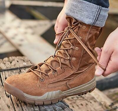 UK Men Lace Up Combat Boots Special Forces Military Shake-Absorber High Top Shoe