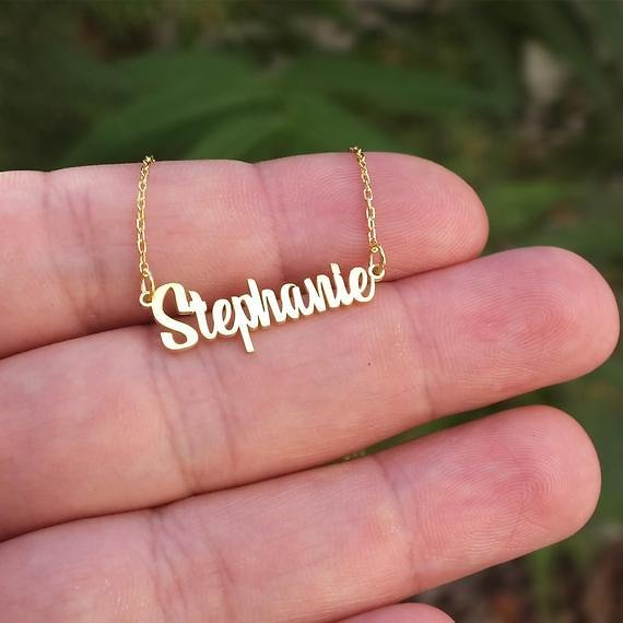 Sterling Silver Name Necklace, Christmas Gifts, Personalized Jewelry, Personalized Gift, Personalized Necklace,Bridesmaid Gift Necklace