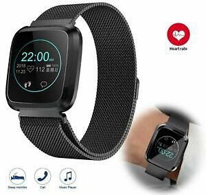 Fitness Tracker Heart Rate Smart Watch Bluetooth Calls Reminder for Android IOS
