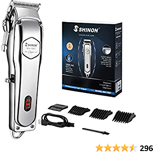 Mens Hair Clippers,Professional Cordless Hair Trimmer Haircut & Grooming Kit For Men Beard Trimmer Rechargeable LED Display