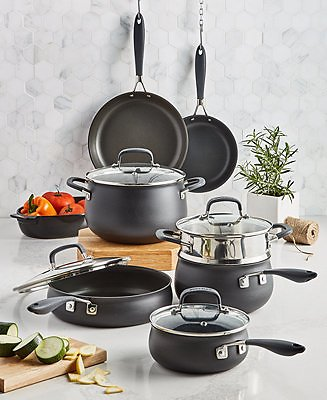 Belgique Hard-Anodized Aluminum 12-Pc. Nonstick Cookware Set, Created for Macy's & Reviews - Home
