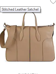 Tod's Stitched Leather Satchel On SALE | Saks OFF 5TH
