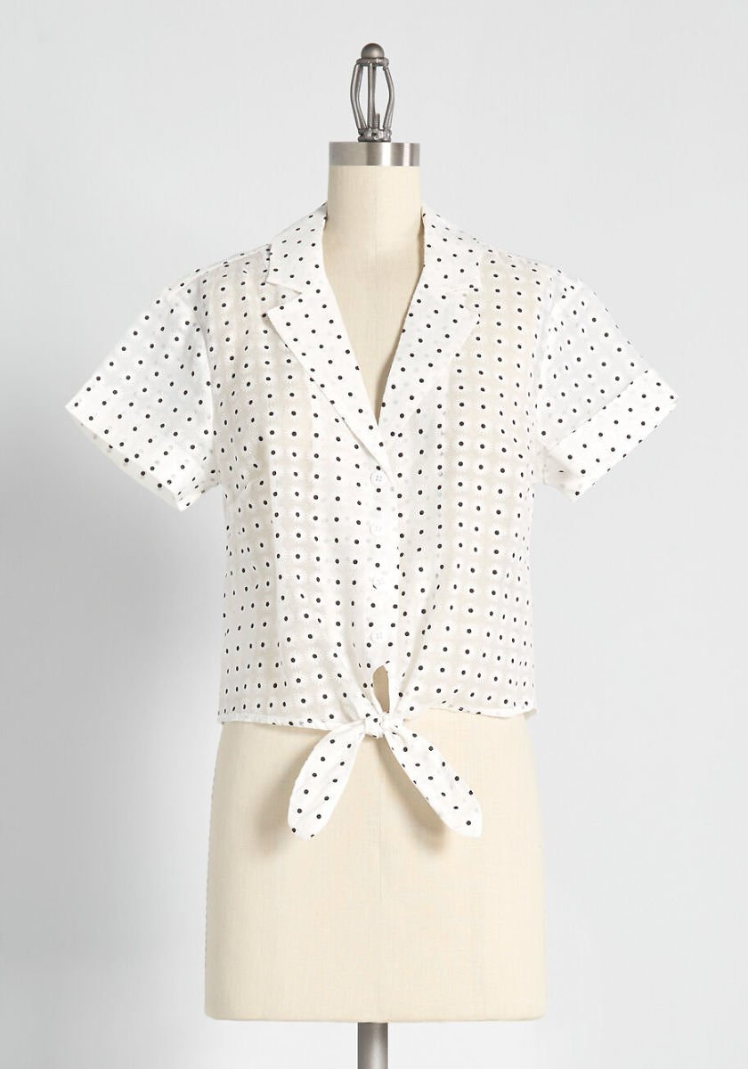 Wisely Tied Button-Up Top