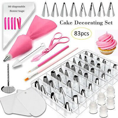 83pc/set Cake Decorating Kit Supplies Set Tools Pastry Icing Bags Nozzles NEW!! | eBay