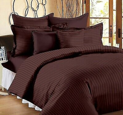 Hotel Quality Egyptian Cotton Brown Color King Size Flat Bed Sheets Set